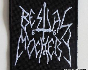 BESTIAL MOCKERY === Embroidered Patch / Deströyer 666 Gospel of the Horns Aura Noir Sabbat Sadistik Exekution Nifelheim Slaughtbbath