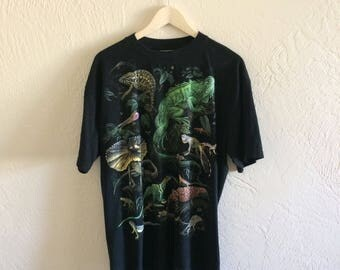 Funny Print-All-Over Vintage Lizards T Shirt