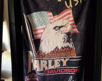 Vintage Harley Beach Towel