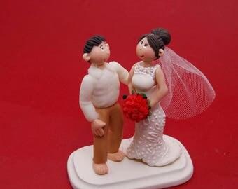 Beach Wedding Cake Topper, Beach Wedding Cake Top, Bride and Groom Cake Tops, Beach Wedding Figurines. Hawaii Theme Cake Topper