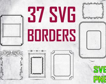 BORDERS SVG for cutting machines Svg digital files Instant download cutting machine Laser engraving files Silhouette files Cameo Files