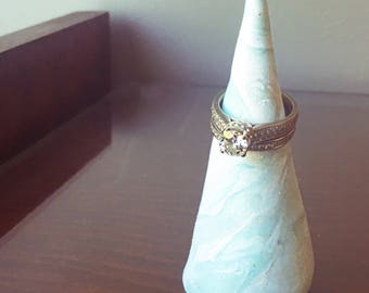 Pastel Ring Cone - Ring Display - Marble Decor - Jewelry Display - Jewelry Holder - Marble Ring Cone - Ring Stand - Ring Holder