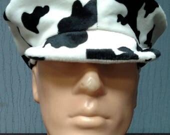 Cow print cabbie