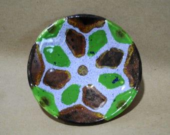 Ceramic plate, bright plate, small plate, clay plate, artistic ceramics, pottery, kitchen decor, Unique pottery, handmade