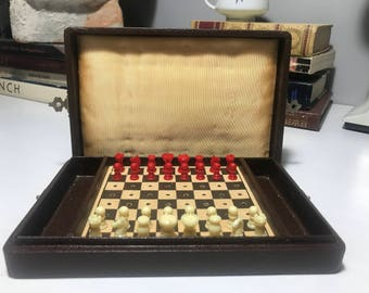 Vintage Travel Chess Set