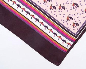 Vintage scarf, 1960's print scarf, vintage head scarf, women's scarf, retro scarf, mod scarf, vintage scarf, pink scarf, Christmas gift