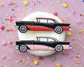 Vintage 1955 Buick Brooch or Magnet / Pin / Pinup / 1950s / Vintage / Rockabilly / Retro / Car