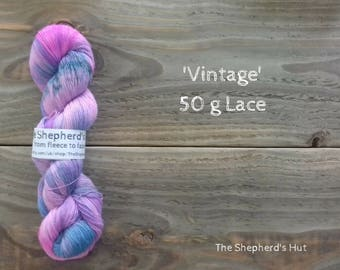 Wool/Nylon/Angora 60/20/20 Lace Yarn 50g in 'Vintage' colour way.
