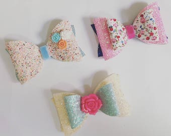Set of three hair clips for girls!