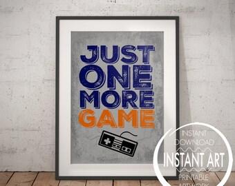 nintendo controller print just one more game retro nintendo video game poster