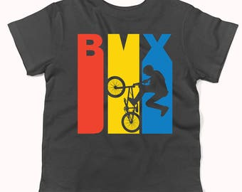 Retro 1970's Style BMX Silhouette Extreme Sports Infant / Toddler T-Shirt