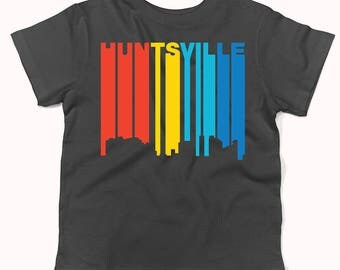 Retro 1970's Style Huntsville Alabama Skyline Infant / Toddler T-Shirt