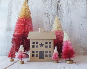 Putz House ~ VALENTINE / Fairy Garden ~ DIY Kids Crafts ~ Paper Mache