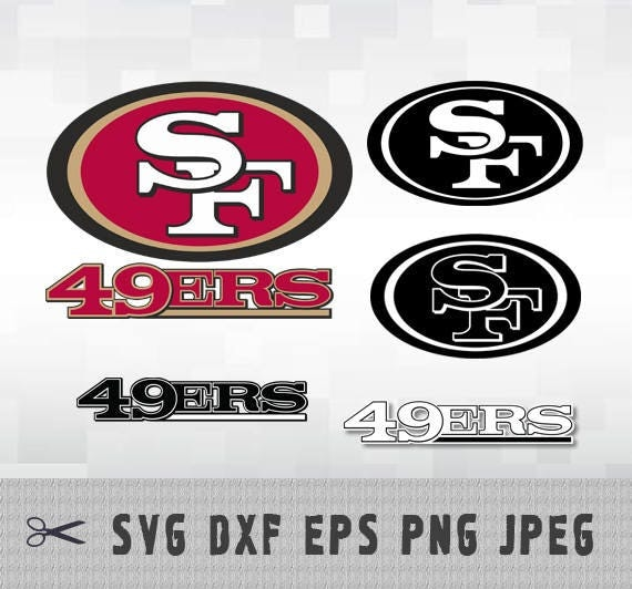 San Francisco 49ers SVG PNG DXF Logo Vector Cut File ...