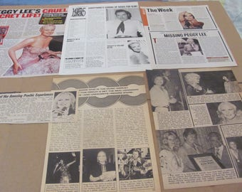 PEGGY LEE  CLIPPINGS  #0528