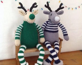 Knitted Christmas Reindeer