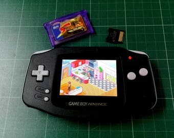 Backlit Mod Nintendo GameBoy Advance Black with AGS-101 Backlight Glass Lens