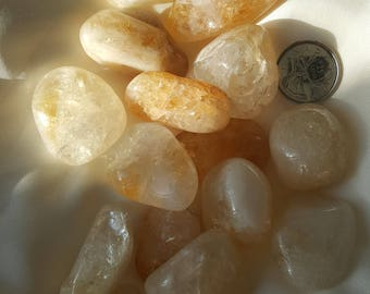 Tumbled Natural Citrine Stone