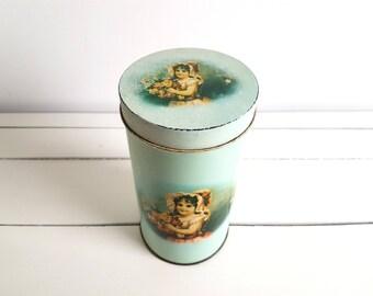 Vintage Dutch biscuit tin 'flowergirl'