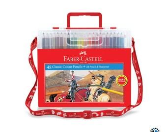 Faber Castell 48 Colour Pencils Wonder Box Set | Arts Crafts