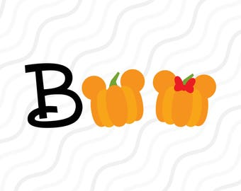 Boo SVG, Halloween svg, Pumpkin Mickey SVG Cut table Design,svg,dxf,png Use With Silhouette Studio & Cricut_Instant Download