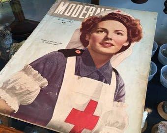 Nurse Modern Hospital 1943 magazine