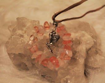 Rose Quartz Fairy Necklace