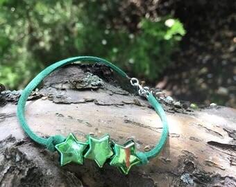 Green Anklet, Green Ankle Bracelet, Green Bracelet, Green Beach Bracelet, Colorful Boho Anklet, Gifts Under 20, Green Beach Anklet