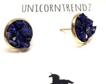 Lapis Lazuli Earrings, Lapis Lazuli Studs, September Earrings, September Jewelry, Navy Earrings, Lapis Gem Jewelry, Navy Stone Earrings, Nav