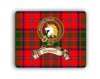 Steward Scottish Clan Appin Tartan Crest Computer Mouse Pad