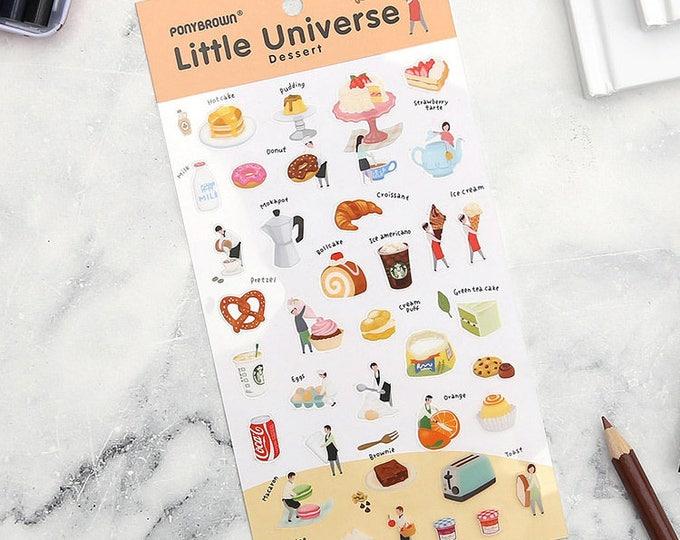 PONYBROWN dessert little universe, transparent stickers