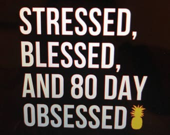 Obsessed, Stressed and 80 day obsessed womens flowy tank top