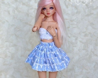 Minifee/Unoa/BJD/ Doll/Fairyland cute skirt with little cats