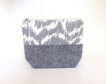 Cosmetic Makeup Bag - Ikat Style