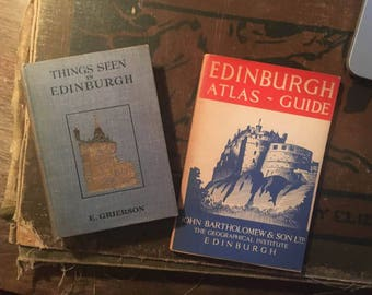 SOLD - Custom Book Request - Two Vintage Books on Edinburgh