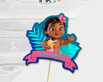 Disney Baby Moana Cake Topper - Centerpiece - Instant Download - Printable - Baby Moana Party - Baby Moana Birthday