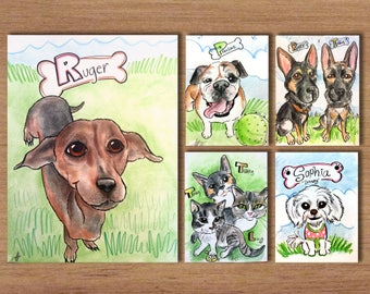 Bulk Pet Caricatures
