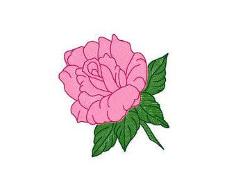 Instant Download - Machine Embroidery Pattern Designs File - Rose Design - Fits 4x4 Hoop - MULTIPLE FORMATS