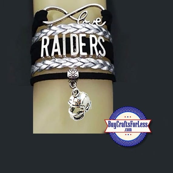 RAIDERS Leather Bracelet - You CHOOSE CHARM