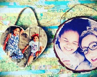 photos on wood, customised