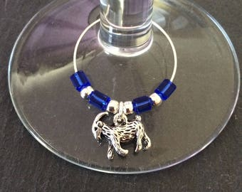Goat wine glass charm / animal wine glass charms / wine charms / wine glass decor / animal lover gift / wine lover gift
