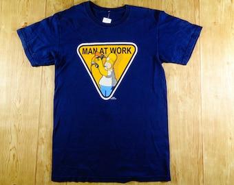20% OFF Vintage Rare 90s Bart Simpson Man At Work T-Shirt