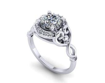 Hidden Skull Heart Ring