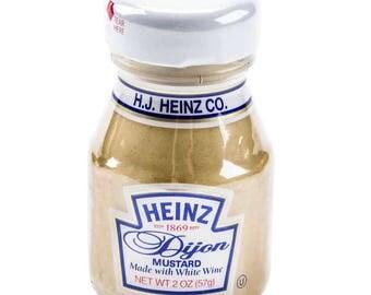 6 Ct 2oz Mini Dijon Mustard Glass Bottles, Mini Bottles, Favors, Party, Condiments, Food Jars, Condiment Bottles, Mini Bottles, Party Favor