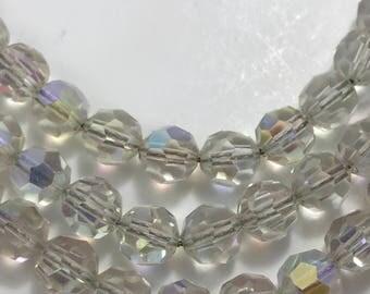 3 Strand Crystal  Necklace