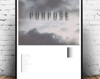 Justin Bieber merch, Justin Bieber poster, Justin Bieber wall art, Justin Bieber decor, Justin Bieber print, Justin Bieber art, Purpose tour