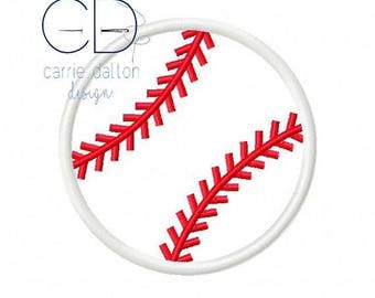 ON SALE Baseball Applique Design, Baseball Embroidery Design