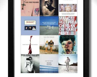 Manic Street Preachers Albums Limited Edition Unframed A3 Art Print