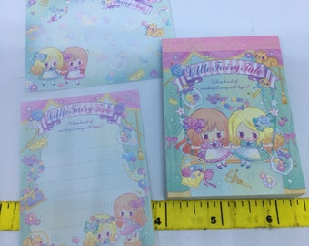 Kawaii Cute Little Fairy Tale Sisters Mini Memo Pad direct from Japan Stationary School Office Supply Planner Kitsch Pastel 90 Sheets