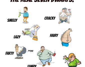 "The Real Seven Dwarfs 6""x6"" Ceramic Trivet"